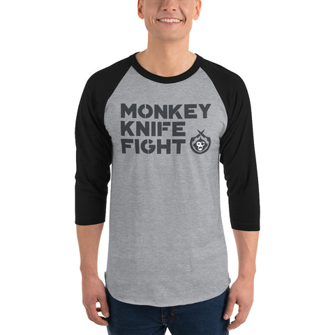 Monkey Knife Fight Signature 3/4 Sleeve Raglan Shirt