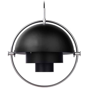 Gubi Hanglamp Multi-Lite hanglamp Chrome / Soft Black 10014460