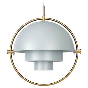 Gubi Hanglamp Multi-Lite hanglamp Messing / Sea Grey 10014451