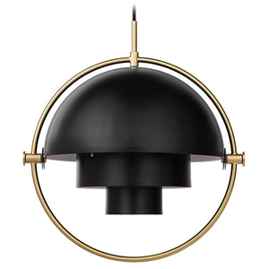 Gubi Hanglamp Multi-Lite hanglamp Messing / Soft Black 10014446