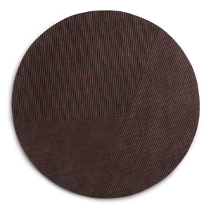 Northern Vloerkleed Row vloerkleed Rond / Dark Brown 3222