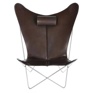 OX Denmarq Lounge stoel KS Chair lounge stoel RVS / Mocca ks-chair-4