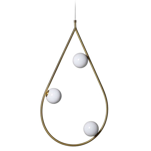 Pholc Hanglamp Pearls 80 hanglamp Brushed Brass 530138