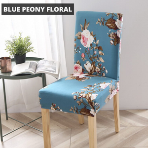 WonderCover™ Floral & Leaves Premium Dining Chair Cover