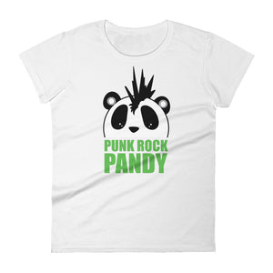 Nik Nak Pandy Punk Rock PandyWomen's short sleeve t-shirt