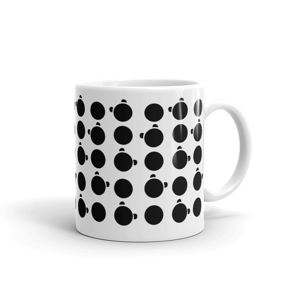 Nik Nak Pandy Black Silo and Dot Mug