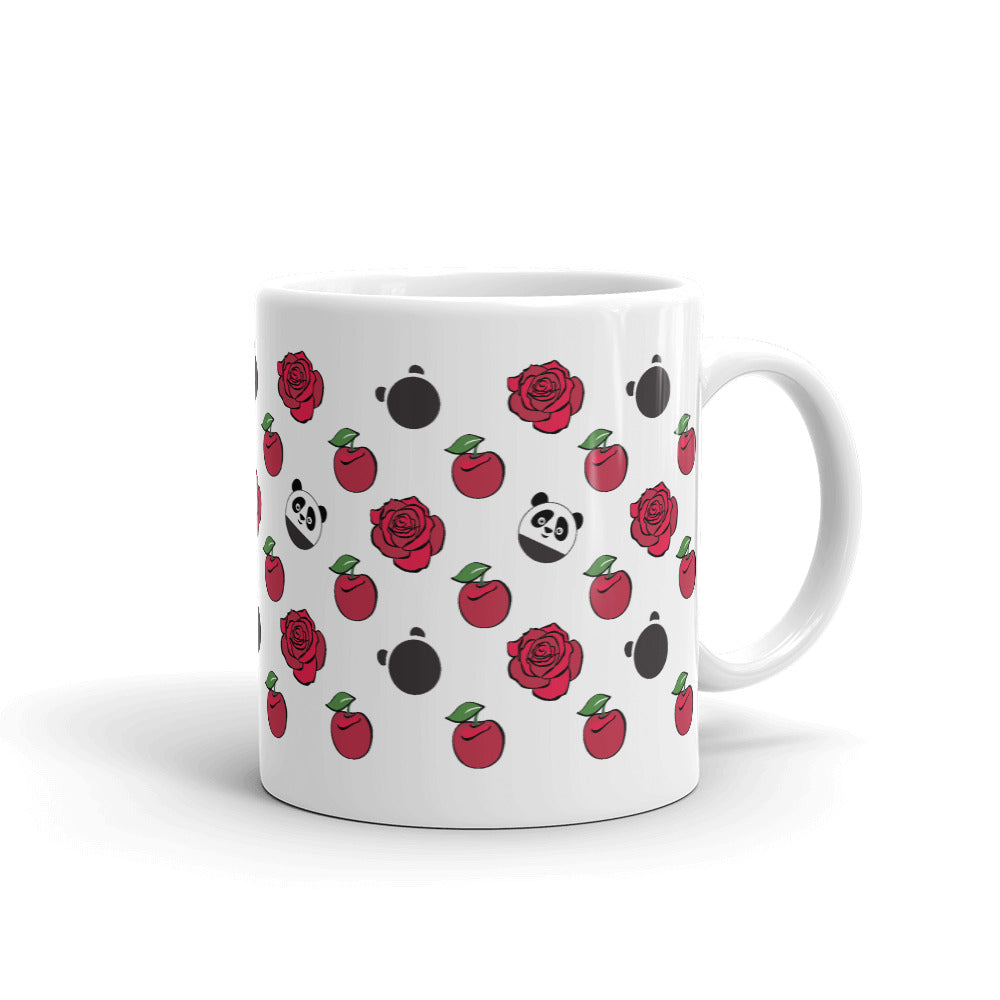 Nik Nak Pandy Cherries and Roses Mug