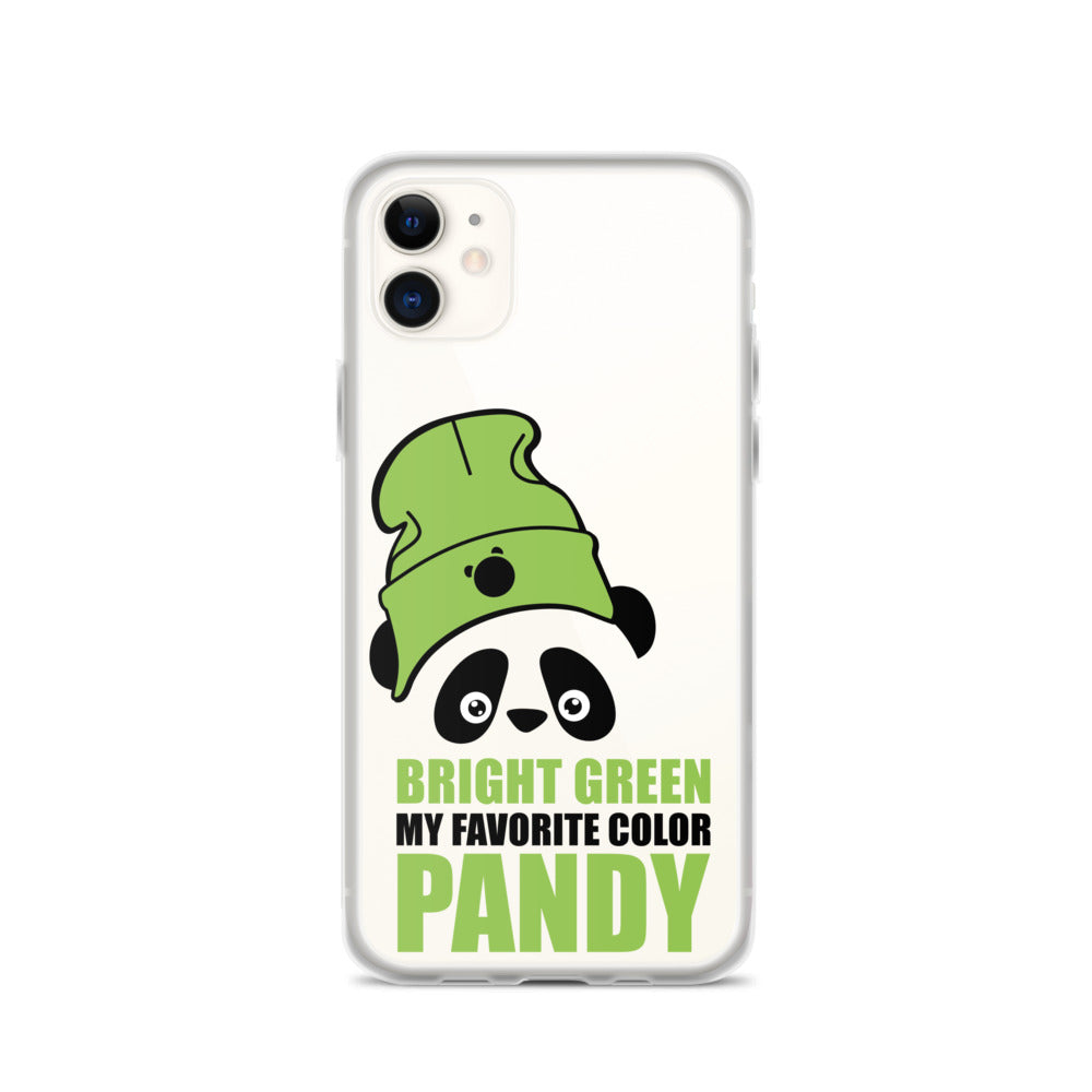 Nik Nak Pandy Bright Green Hat iPhone Case