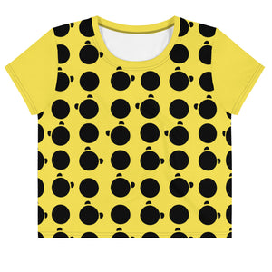 Nik Nak Pandy Black Silo and Dot All-Over Print Crop Tee