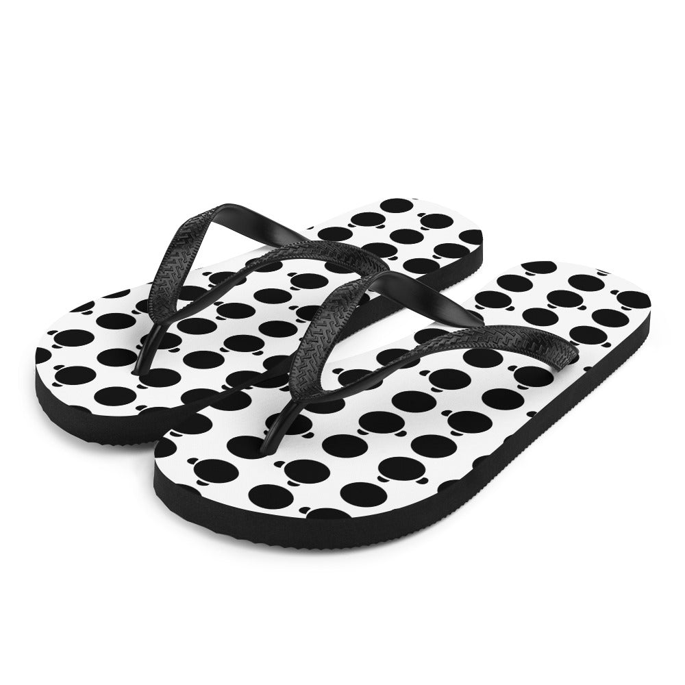 Nik Nak Pandy Black Silo and Dot Flip-Flops