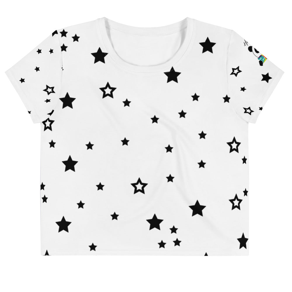 Nik Nak Pandy 2020 Stars All-Over Print Crop Tee