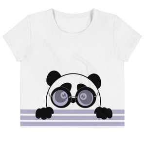 Nik Nak Pandy Sleek Pandy All-Over Print Crop Tee