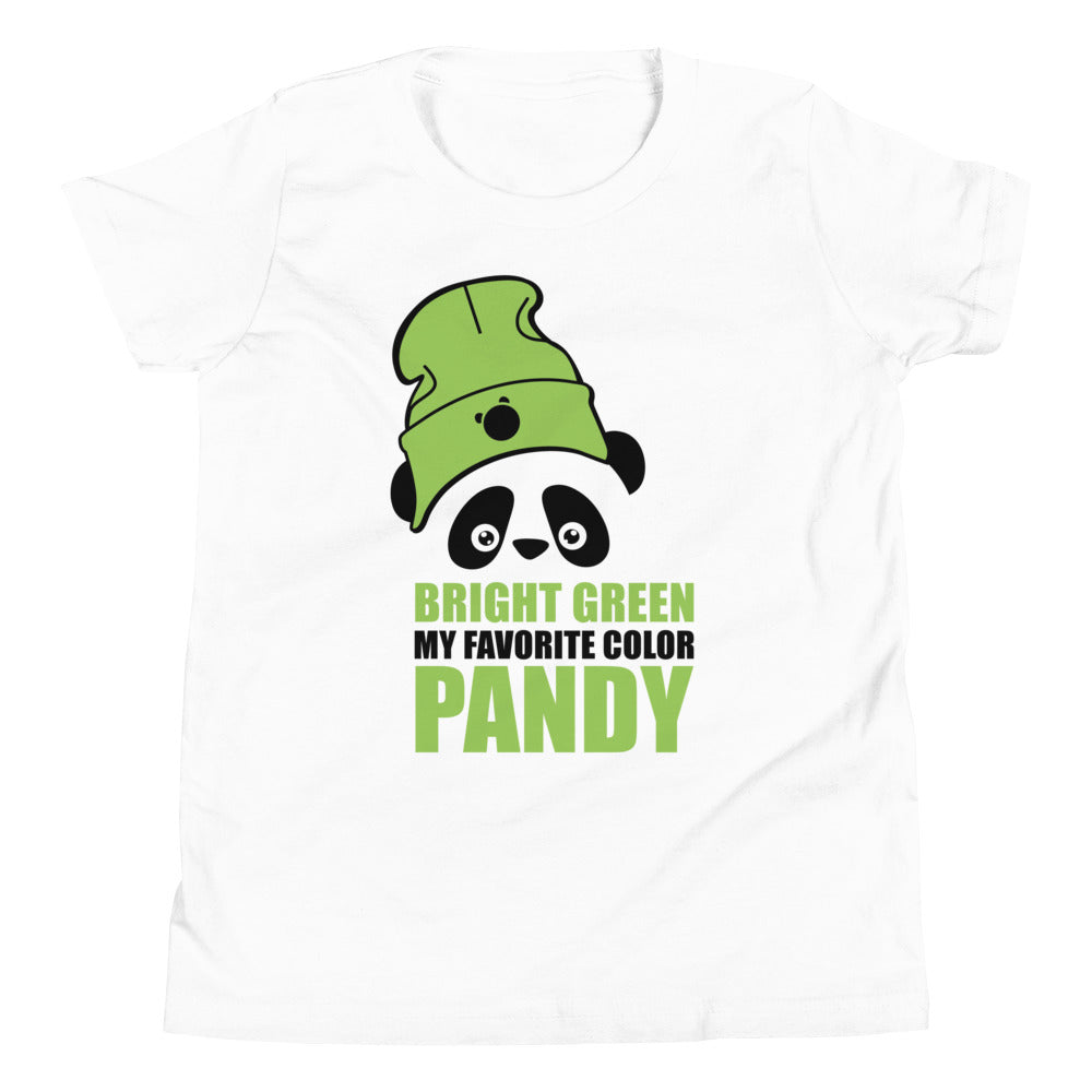 Nik Nak Pandy Bright Green Hat Youth Short Sleeve T-Shirt