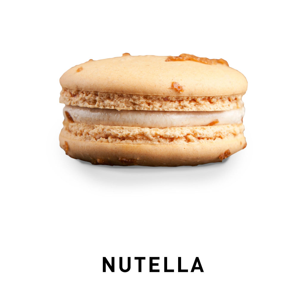 Nutella macarons biscuit