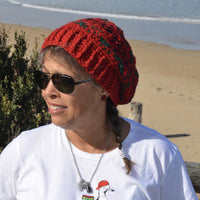 Red Crochet Slouchie
