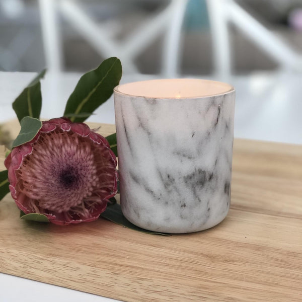 Translucent Marble Look Candle