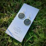 Recycled Sterling Silver and Enamel Small Drop Earrings
