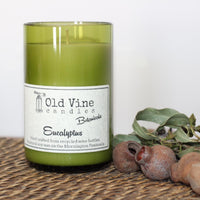'Eucalyptus' Recycled Wine Bottle Candle