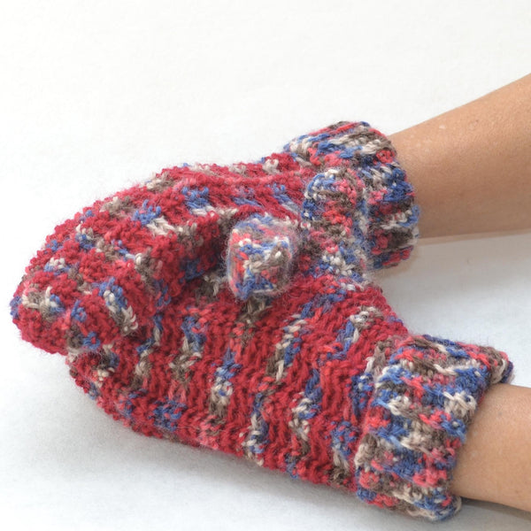 Two-Tone Crochet Mittens