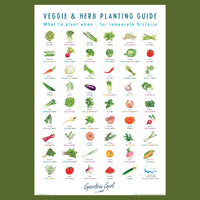 What to Plant When - Veggie and Herb Guide Tea Towel by Garden Girl