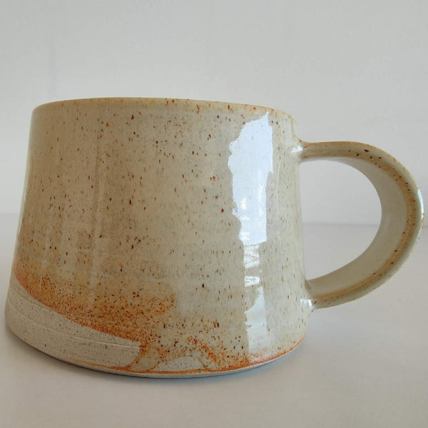 Cream Shino Ceramic Wide Bottom Mug