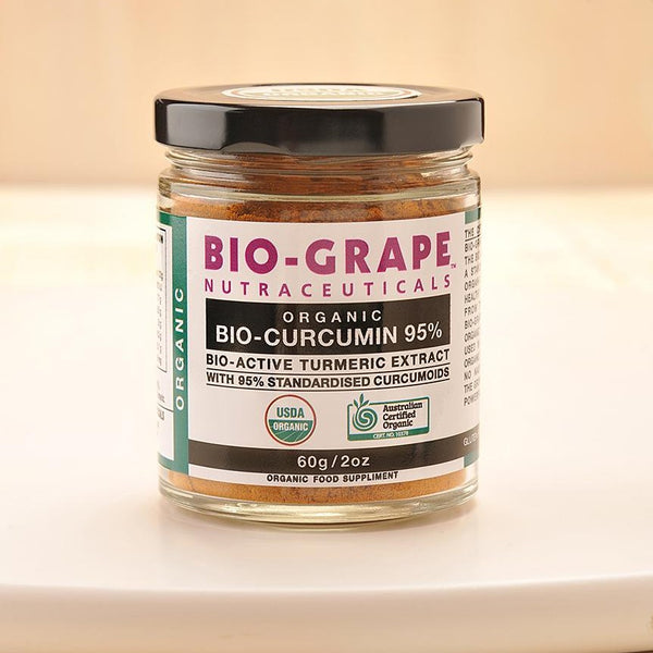 BIO-GRAPE Certified Organic BIO-CURCUMIN 95% ( bio-active turmeric extract ) 60g powder.