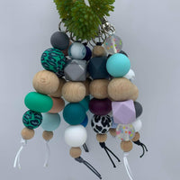Handmade Silicone Bead Keyring/Keychain - Assorted Styles