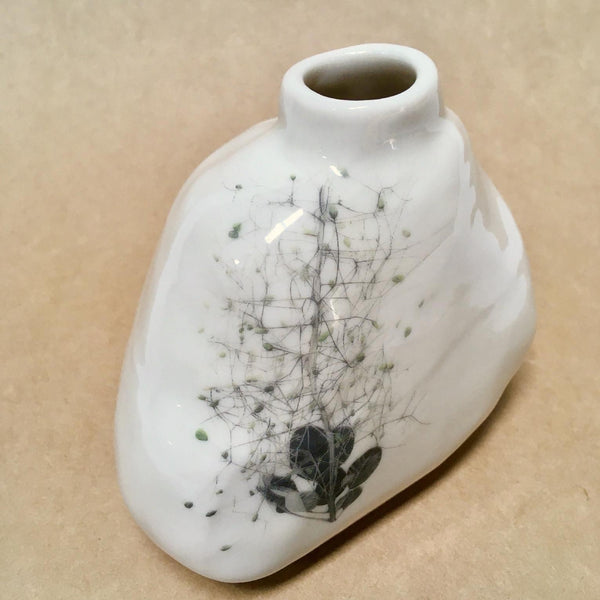 Botanical Porcelain vessel