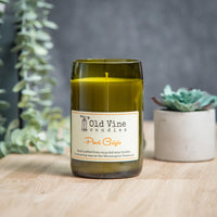 'Pinot Grigio' Recycled Wine Bottle Candle