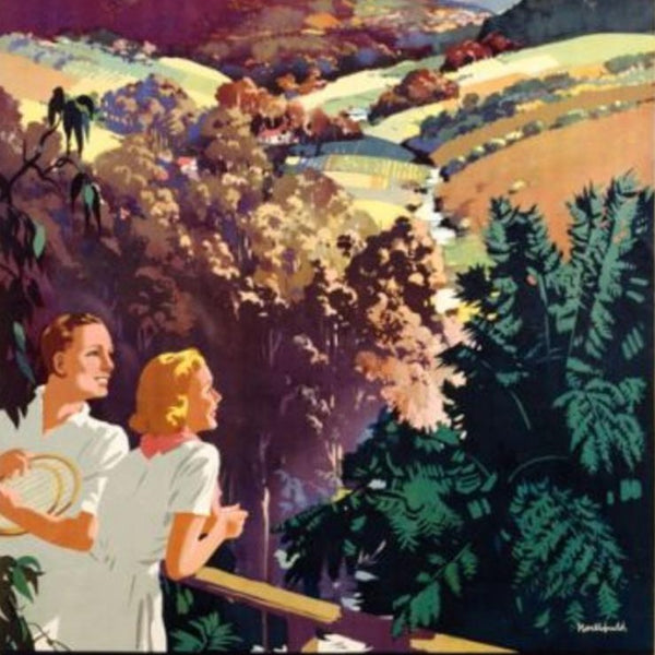 The Dandenong Ranges - Vintage Travel Poster