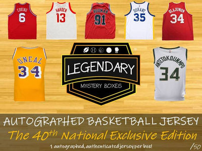 NUMBERS FORMAT: LOADED PRODUCT HUGE NAMES 2019 LEGENDARY Autographed Basketball Jersey 40th NATIONAL EXCLUSIVE Edition ID19LEGBKB40TH102