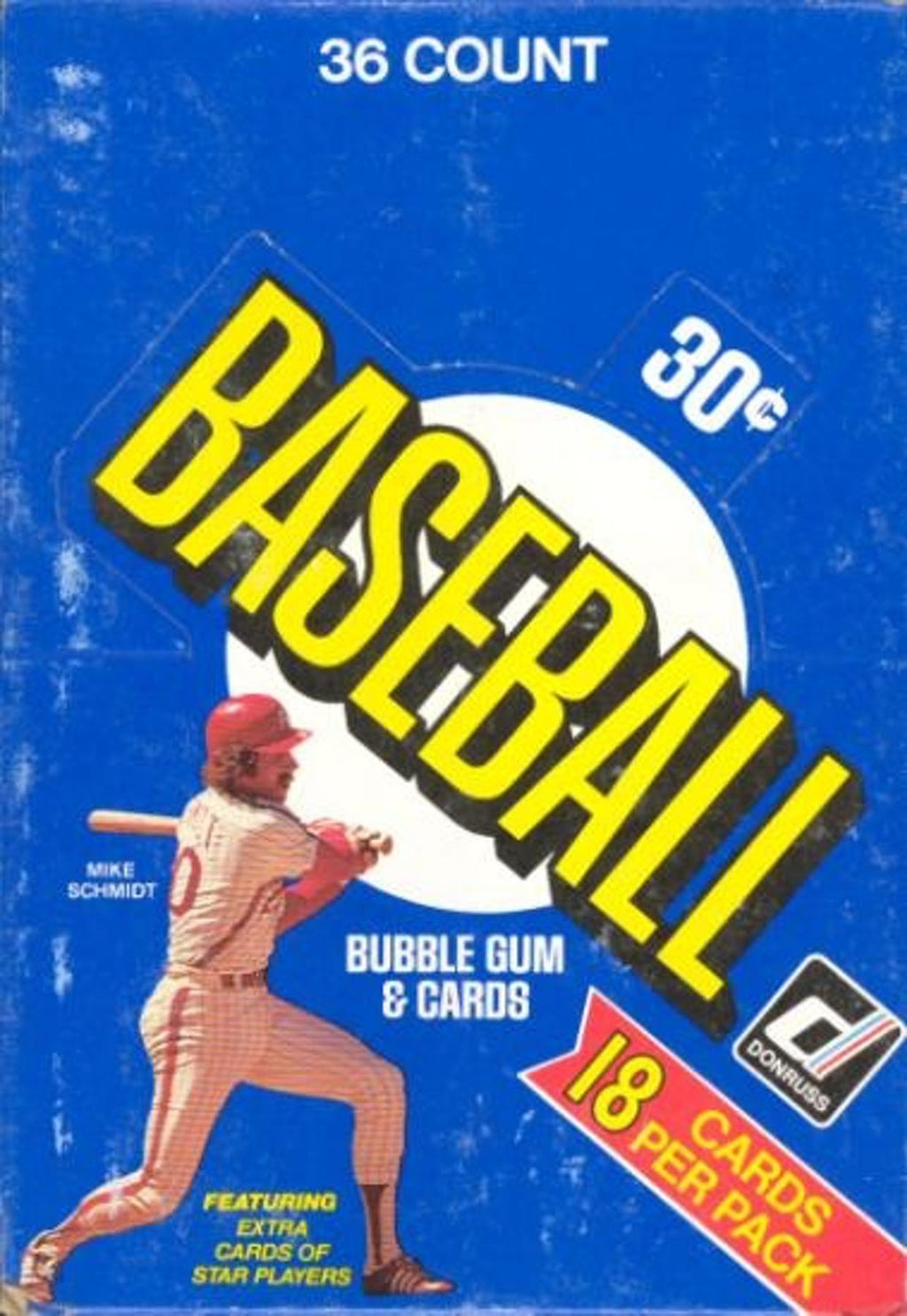 OLD SKOOL WAX BUST: 1981 Donruss Baseball Wax Box ID 81DONRUSS101