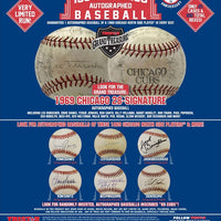 2019 Tristar Hidden Treasures 1969 Chicago Autographed Baseball ID 1969TRI109