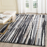 Morisot Vertical Stripes Dark Brown