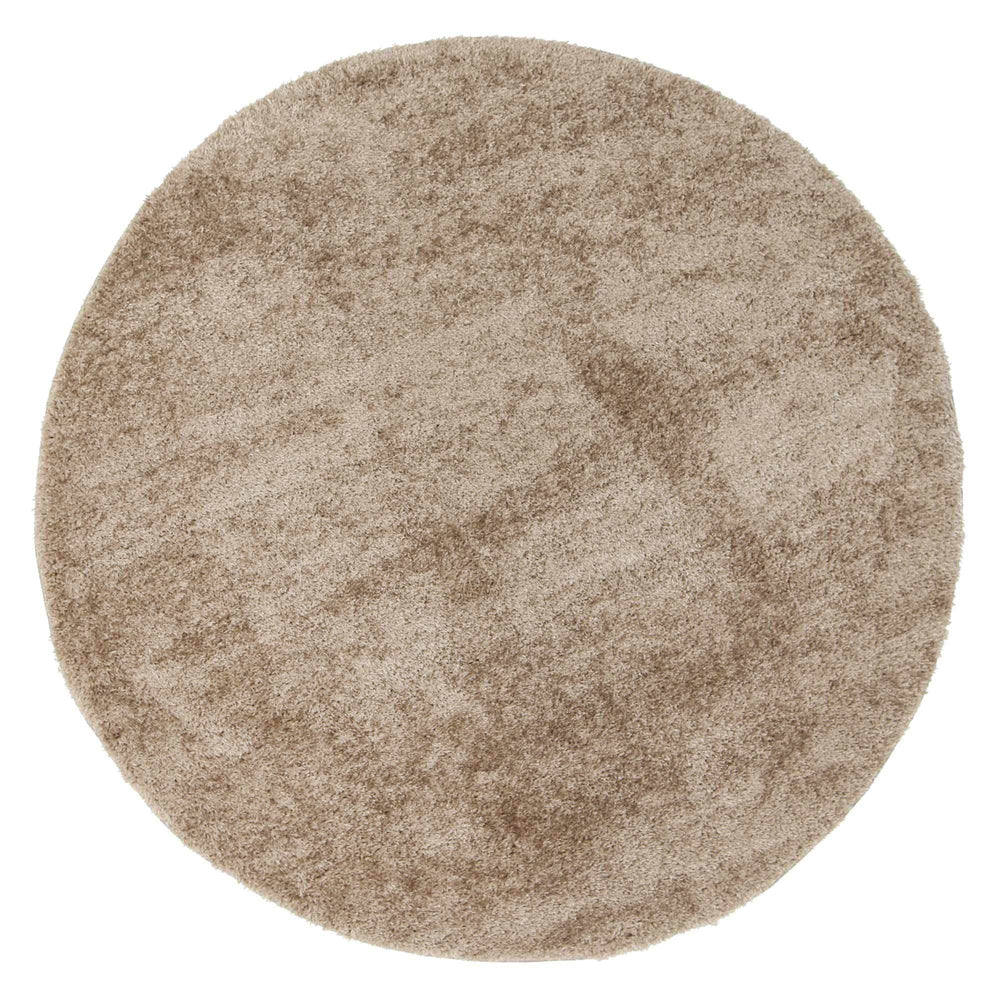 PUFFY SHAGGY 44 BEIGE ROUND