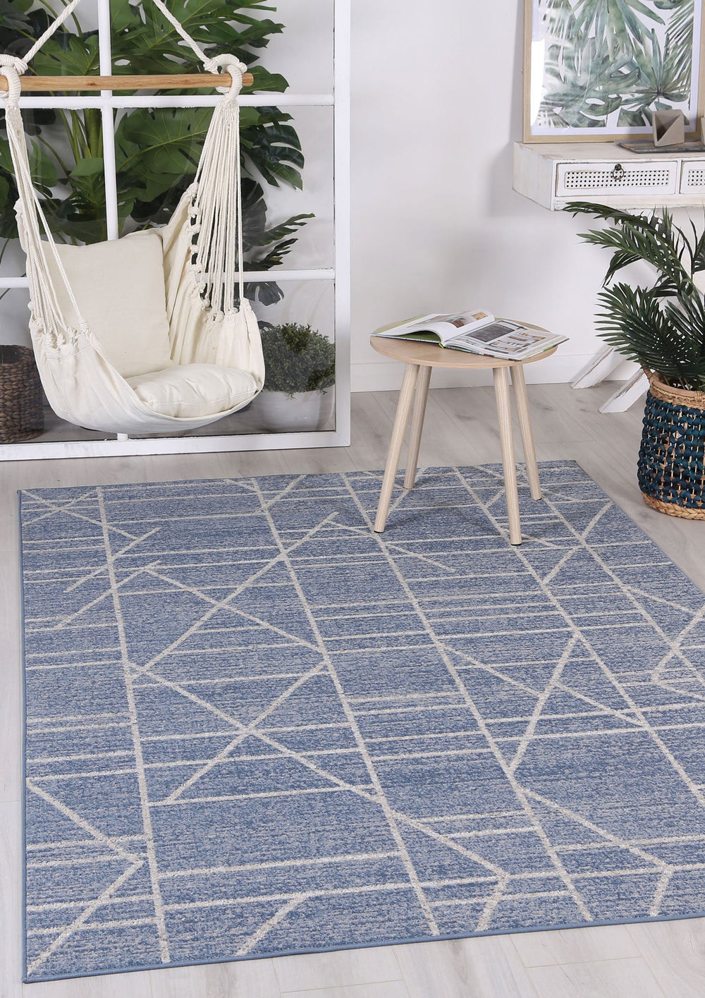 Courtyard Copenhagen Indoor/Outdoor Blue Rug