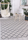 Courtyard Diamond Indoor/Outdoor Beige Rug