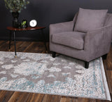 Rapsody Medallion Blue Rug
