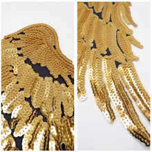 Load image into Gallery viewer, Gold Sequins Angel Wings