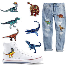 Load image into Gallery viewer, Embroidered Dinosaur Set