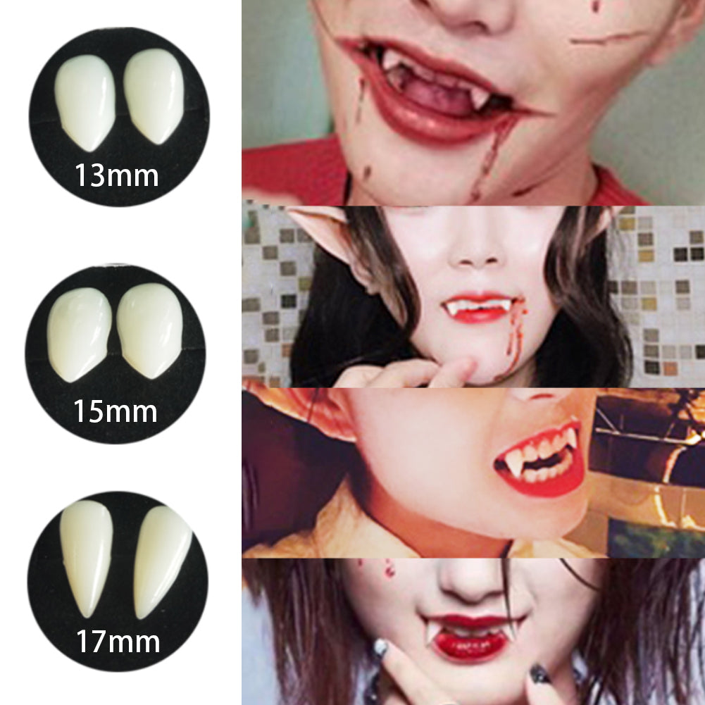 Halloween Party Cosplay Vampire Tooth, 3 Sizes Fake Teeth Horror False Teeth Dress Up Accessories