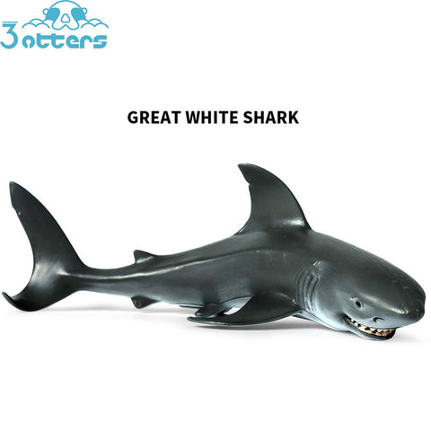 3otters Great White Shark Toys - 3 Otters