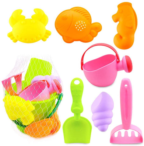 Kids Beach Sand Toy Set, 8PCS Sand Toys Beach Toys Sandbox Toys, Kids Outdoor Toys