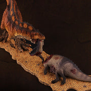 3otters Coelacosauru model & Tenontosaurus remains model 2PCS