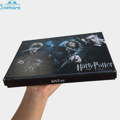 Harry potter Wizard Sorcerer's Wand Kids Toys Magic Wands Stick with Keychain Necklace in Box