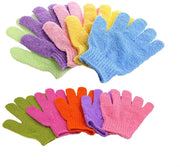 Bath Gloves, Exfoliating Gloves Spa Gloves Shower Glove Facial Gloves Bath Body Scrub Shower Gloves Body Spa, 5 Pair(5 Color)