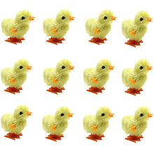 Load image into Gallery viewer, Wind Up Toy, Easter Toy Wind-Up Jumping Chicken Plush Chicks Toys Novelty Toys for Party Favors , Yellow, 12 PCS