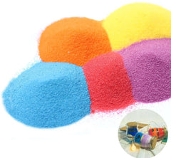 Art Sand, Craft Sand Scenic Sand Decor Colored Sand(10 Colors, Total 2.2 LB)