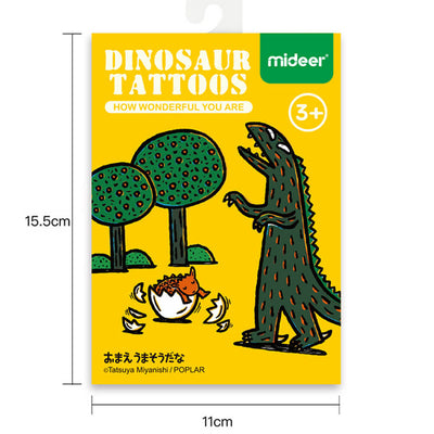 3otters Dinosaur theme tattoo stencil