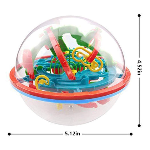 Maze Ball, 3D Magic Puzzle Game Flying Saucer Development with 100 Challenging Barriers Education Toy Children Toys - 3 Otters